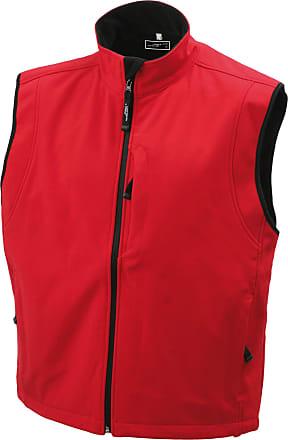 James & Nicholson Mens Softshell Vest - Red, L