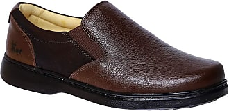 Doctor Shoes Antistaffa Sapato Masculino Especial Neuroma de Morton em Couro Floater Café 415 Doctor Shoes-Café-42