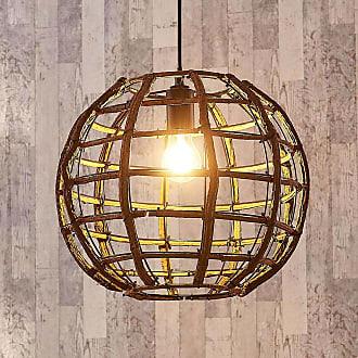 Lampenwelt.com Lámpara colgante Manuela esférica, de madera