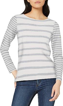 Joules Womens Harbour Long Sleeve Top, Grey (Cream Grey Stripe Crmgreystr), 8 (Size:8)