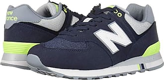 672ad7246103 New Balance Classics 574 Summer Shore (NB Navy/Bleached Lime) Mens Classic  Shoes