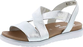 Remonte D4059 Women,Strappy Sandals,Strappy Sandals,Summer Shoes,Summer Comfortable,Flat,silber/90,40 EU / 6.5 UK