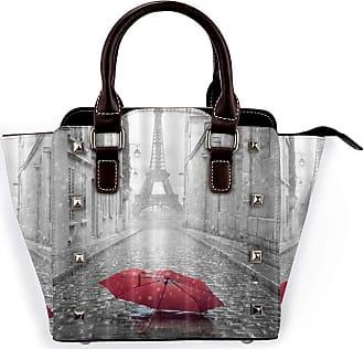 Browncin Paris Eiffel Tower Under Red Umbrella In France Street Detachable Fashion Trend Ladies Handbag Shoulder Bag Messenger Bags