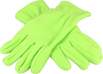 2Store24 Gloves Promo in Fleece in Lime Green Size: M/L
