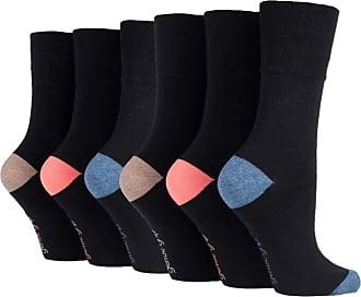 SockShop 6 Pairs of Sock Shop Everyday Gentle Grip Socks Ladies 4-8 See Multi Variations and Designs (6 x RP08.)