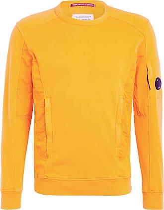 C.P. Company Sweatshirt im Materialmix - ORANGE