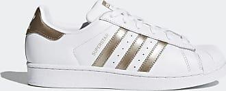 adidas Tênis Superstar W Branco - Mulher - Dourado - 34 BR