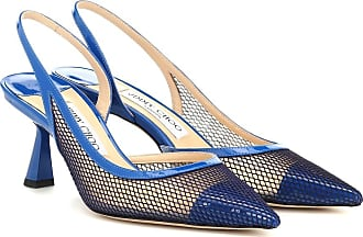Jimmy Choo London Fetto 65 mesh and leather pumps