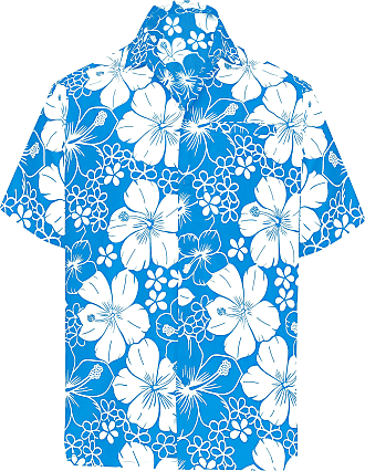 La Leela Men Button Down Holiday Shirt Short Sleeve Collar Front Pocket Floral Printed Basic Clothing Funky Aloha, 4XL | Fits 64 - 66, Teal Blue_w302