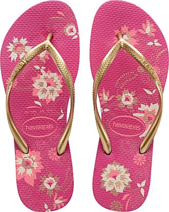 2aa461aef Havaianas Womens Slim Organic Cf Lightweight Beach Holiday Flip Flops -  Raspberry Rose - 8