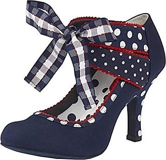 83978012965bb3 Ruby Shoo Damen Schuhe Aisha Vintage Polka Dot Karo Pumps Blau Geschlossen  41