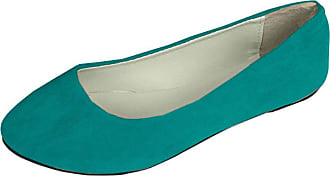 Vdual Women Ladies Slip On Flat Comfort Walking Ballerina Shoes Size UK 2.5-8 Grass Green