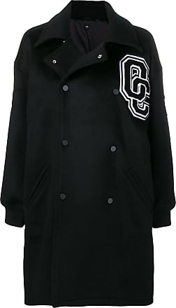 Opening Ceremony double breasted logo coat - Preto