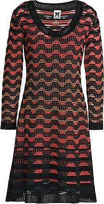 M Missoni M Missoni Woman Pointelle-knit Wool-blend Dress Black Size 40