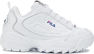 fila platform trainers white