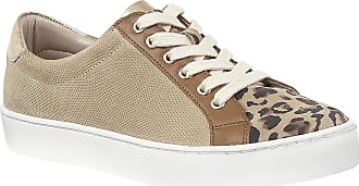 Lotus Natural & Leopard-Print Leather Amsterdam Lace-Up Trainers 6 UK