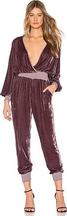 Young Fabulous & Broke Ambrosia Velvet Jumpsuit in Purple