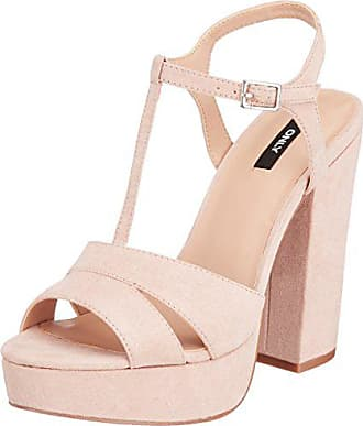 Beige Onlallie Only Bout Nude Femme EU Ouvert Sandal Heeled Strap 38 70d1qRw0