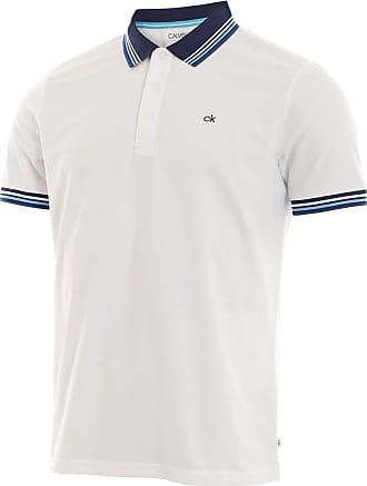 Calvin Klein Mens Bi-Lite Polo Shirt - Wht/Sky - M