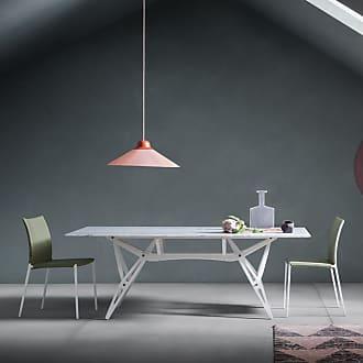 ZANOTTA Design Reale Dining Table White Painted Oak & Carrara Marble