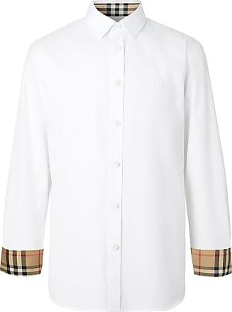 Burberry Camisa slim com estampa monogramada - Branco