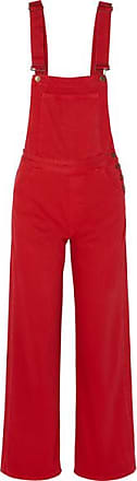 Mih Jeans Paradise Denim Overalls - Red