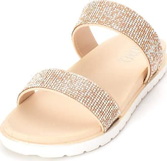 xoxo Womens Rio1 Open Toe Casual Slide Sandals, Blush, Size 11.0 US / 9 UK US