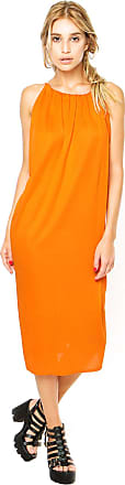 Finery Vestido Finery London Bessy Jersey Drawstring Laranja