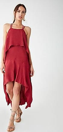 Forever 21 Forever 21 Layered High-Low Dress Burgundy