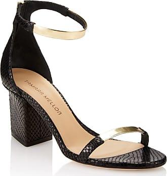 Tamara Mellon Luce Black Elaphe Sandals, Size - 35.5