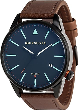 Quiksilver The Timebox Leather - Analogue Watch - Men - ONE SIZE - Black