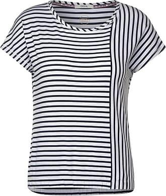 Cecil T-Shirt mit Streifenmix - White