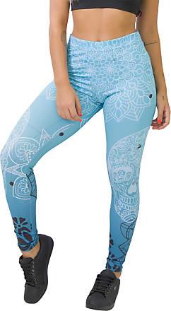 Kaisan Calça Feminina Legging Sublimada Blue Skull