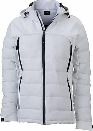 James & Nicholson JN1049 Ladies Outdoor Hybrid Jacket White Size M