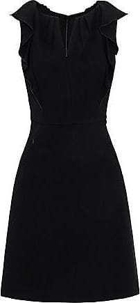 9e7980ea94c2 Elie Tahari Elie Tahari Woman Ruffle-trimmed Crepe Mini Dress Black Size 10