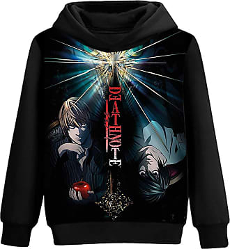 Haililais Death Note Pullover Personalise Hooded Long Sleeve Sweatshirt 3D Color Printing Fashion Hoodies Pullover Unisex (Color : A07, Size : XL)