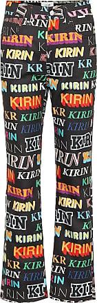 Kirin Logo high-rise wide-leg jeans