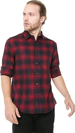Ellus Camisa Ellus Reta Shade Wool Touck Check Vermelha
