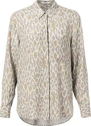 YaYa Button Up Shirt mit Schlangenmuster - 34 | viscose | beige | Taupe Gray Melange - Beige