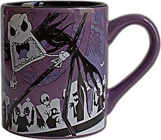 Disney NB9332 Nightmare Before Christmas Jack Scary Face Ceramic Mug, 14-Ounces, Multicolor