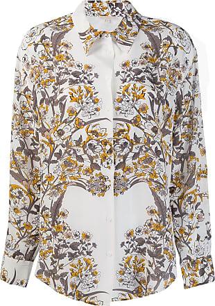 Gold Hawk Camisa com estampa floral - Branco