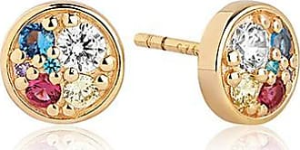 Sif Jakobs Jewellery Earrings Novara Piccolo - 18k gold plated with multicoloured zirconia