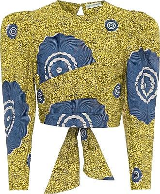 Ulla Johnson Eden printed cotton wrap crop top
