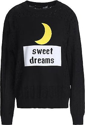 ce7412c17f1 Love Moschino Love Moschino Woman Intarsia And Pointelle-knit Cotton Sweater  Black Size 40