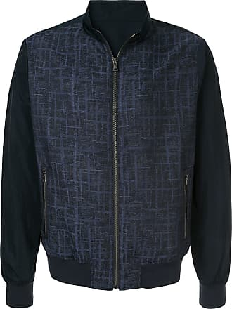Durban contrast panel bomber jacket - Blue