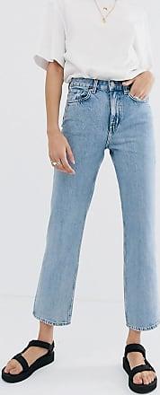 Weekday Voyage - Jeans mit geradem Beinschnitt aus Bio-Baumwolle in Hellblau