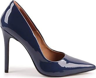 Paula Brazil Scarpin Helo 930-80030/999-80562 Verniz Azul (Marinho/Denim) Azul - 38