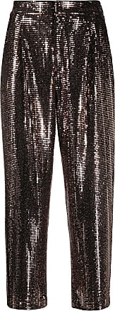 PT01 Daisy embellished cropped trousers - Brown