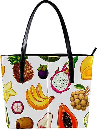 Nananma Womens Bag Shoulder Tote handbag with Summer Fruit Pattern Zipper Purse PU Leather Top-handle Zip Bags