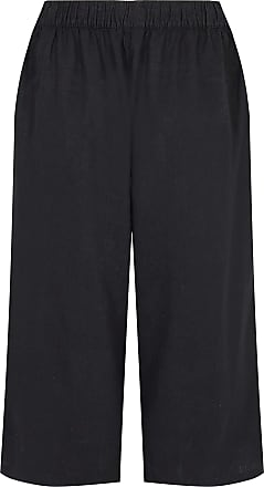 Yours Clothing Clothing Womens Linen Culottes Size 16 Black